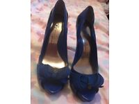 Blue high shoes size 6