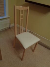 chair beech colour excellent condition good as new spare bedroom furniture