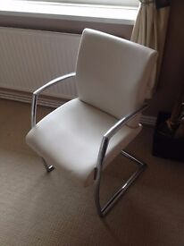 leather and chrome chair as new