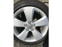 Audi A3 2014 sport alloys with 4 tyres