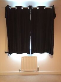 Curtains (eyelet - blue - blackout)