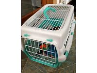 Cat Carrying basket, feeding bowls and toys for cat