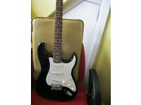 Squire, Squier by Fender strat guitar