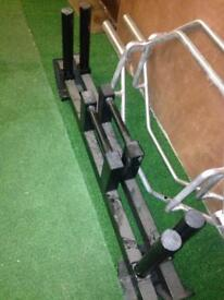 Plate loaded farmers walk handles pair - weights gym