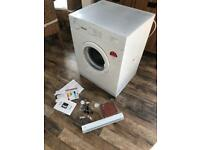 baumatic 6kg vented integrated tumble dryer