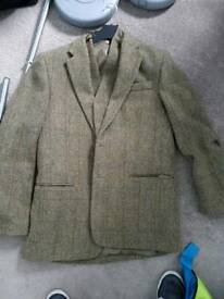 Harris tweed jacket and waistcoat