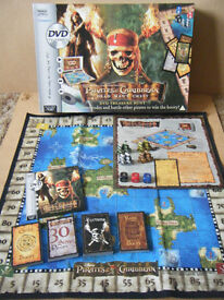 Pirates of the Caribbean - Dead Mans Chest - Treasure Hunt DVD Board Game by Parker from 2006