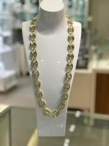 Brand New 10kt Yellow Gold Hollow Puff Anchor Gucci Link Chain 19.30mm 30 inches 55.2 gr.