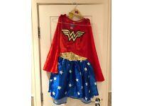 Superwoman costume fancy dress sz 8 10 S