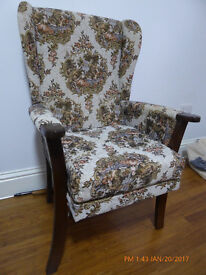 Arm Chair - Victorian Damask Style