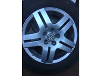 Mk 4 Golf gti alloys with tyres