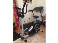 2 in 1 Roger Black Cross Trainer/Exercise Bike