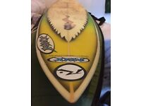 Mellow Marsh Yellow (MMY) Surfboard, Made in Cornwall, 6'1""