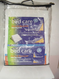 white bed wedge(RRP £37.99) -that can be used to give mattress a 5 inch tilt at Head or foot of bed