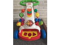 Fisher price push along walker fantastic condition.