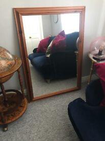 Large Brown Vintage Mirror