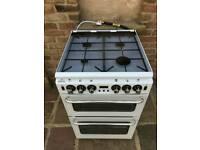 Gas cooker 55cm white newhome brill condition