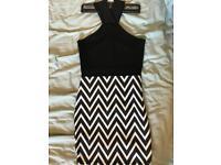 Black and white striped dress