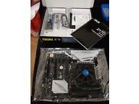 ASUS Z170-A Intel Skylake SLi/CrossFire ATX Motherboard, Intel G3900 LGA 1151 cooler, 7 PCIE, mining