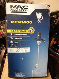 PLASTERE'S MAc ALLISTERS 1400 Watt paddle mixer