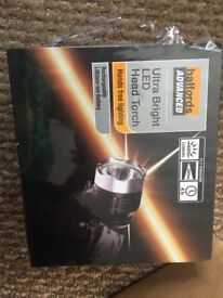 Brand New Halfords Ultra Bright LED Head Torch