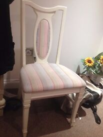 chair bedroom vintage white posh cushioned