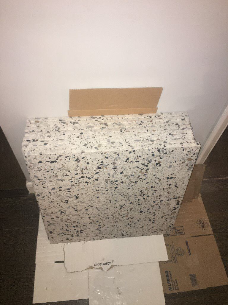 Terrazzo Tiles - Custom Made 600mm x 600mm x 20mm thick - 8 tiles + offcuts  | in Hackney, London | Gumtree