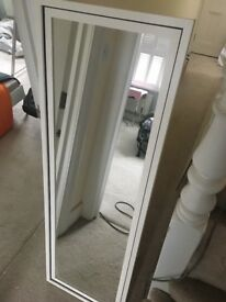 Freestanding Mirror- white/cream, ikea