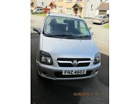 Vauxhall Agila ***Only 37500 Miles and 12 months MOT***