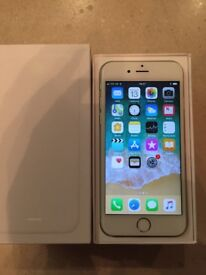 Apple Iphone 6 O2 White/Silver 64GB Excellent Condition Complete Box Etc