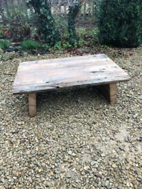 Solid old English oak rustic coffee table