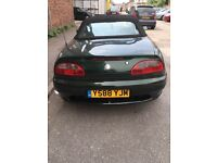 MGF 1.8 BRG, good restore project or lots of new/good spare parts. MOT Jan 2017, currently SORN