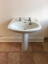 Sink and Taps for bathroom