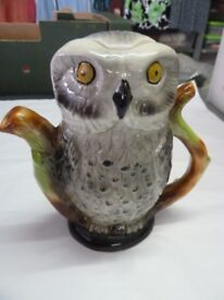 Collectable Tony Wood Owl Teapot