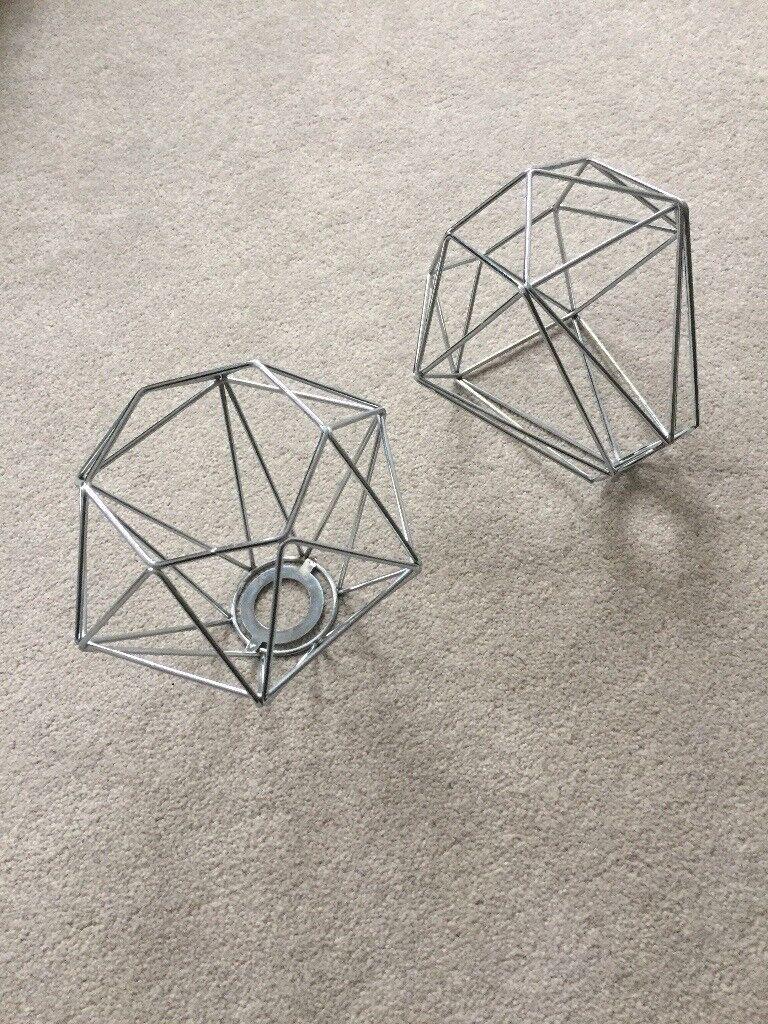 Retro Style Chrome Metal Basket Cage Ceiling Pendant Light Shade