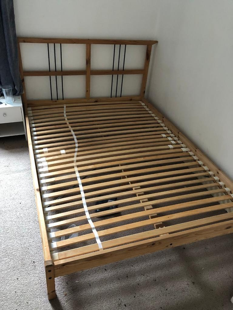 Bed Frame With Slats Double European Size