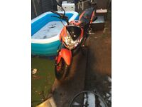 125cc motorbike for sale low milage MOT and TAX til April 2018, 2014 plate