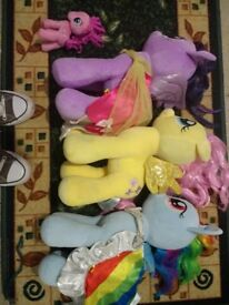 My little ponies large plush toys.