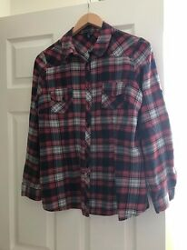Plaid shirt, size 14