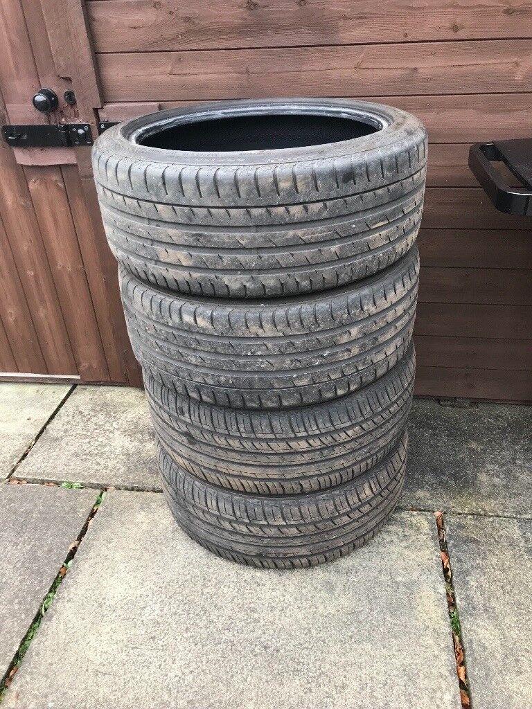 19 inch part worn tyres x 4