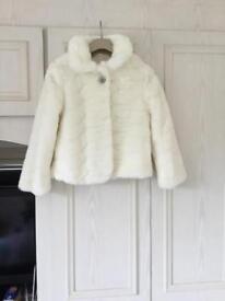 M & S girls fur coat. Age 9- 10 x 2