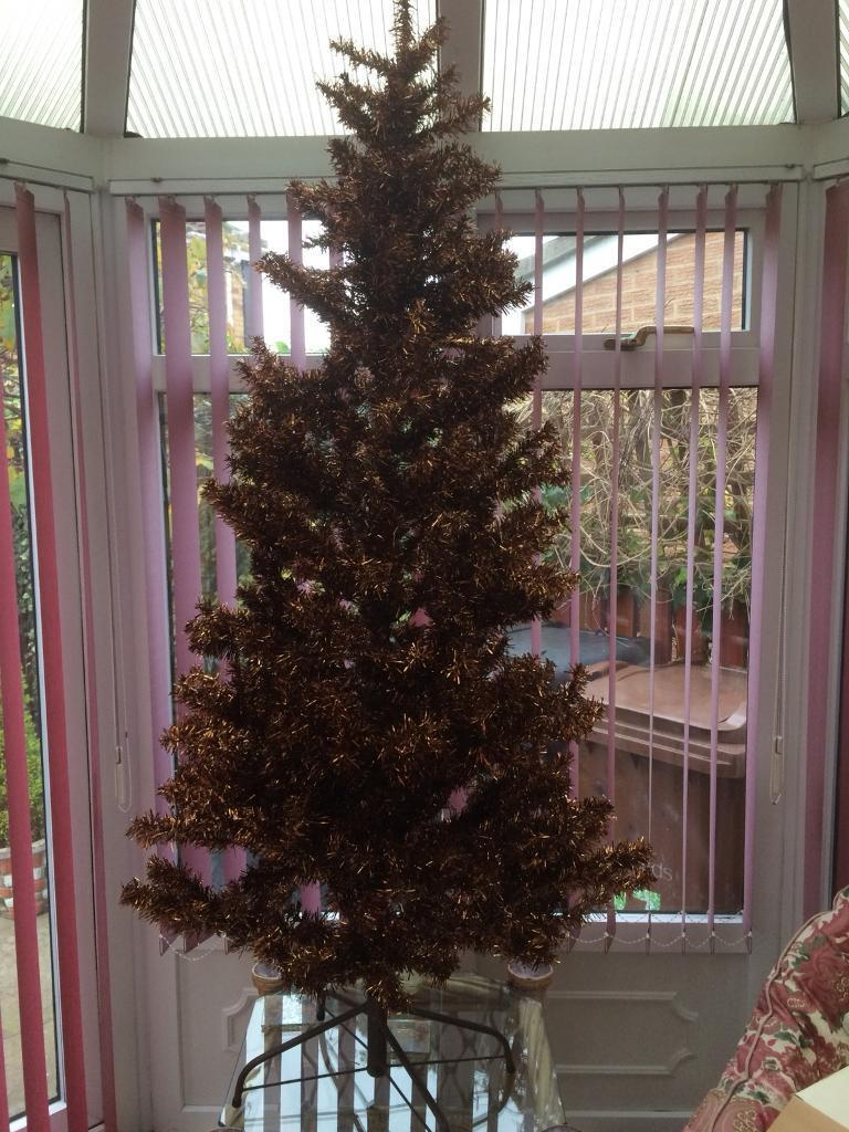 6 FOOT TALL NEXT ARTIFICIAL CHRISTMAS TREE ( COPPER )
