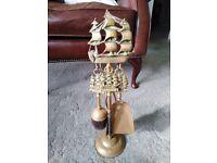 Brass fireside companion