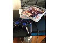 PS3 console with 3 games 1 controller