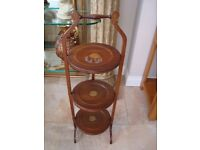 OLD CAKE STAND 3 LAYERS FOLDS FOR STORAGE ONLY £20 FOR QUICK SALE