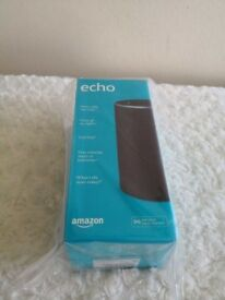 Brand New Sealed Amazon Echo 2nd Gen (2nd generation), Charcoal Fabric
