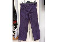 Girls Cheroke Purple Trousers - Age 9-10 - Hitchin