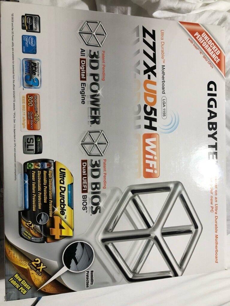 GIGABYTE GA-Z77X-UD5H-WB WIFI, LGA 1155, Intel Z77 Motherboard, SLI, 9x  SATA, USB 3 0 | in West Cross, Swansea | Gumtree