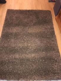 Brown shaggy rug