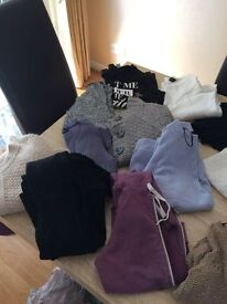 Bundle of trousers, leggings and jumpsuit
